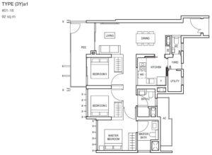 midwood-condo-floor-plan-3-bedroom-with-yard-type(3Y)a
