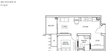 midwood-condo-floor-plan-1-bedroom+study-type(1+1)a