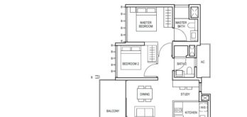 midwood-condo-floor-plan-2-bedroom+study-type(2+1)a